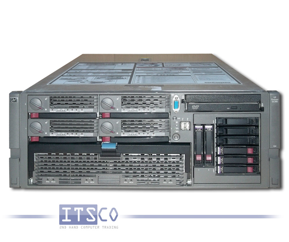 server hp proliant dl580 g4 g nstig gebraucht kaufen bei itsco. Black Bedroom Furniture Sets. Home Design Ideas