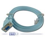 Cisco Konsolenkabel RJ-45 Stecker auf D-Sub seriell 9-polig 1,50 Meter Kabellänge blau PN: 72-3383-0