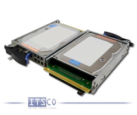 """Festplatte IBM eServer iSeries 3.5"""" U320 SCSI 80-Pin HDD 35GB 39J3695 inkl. Einbaurahmen"""