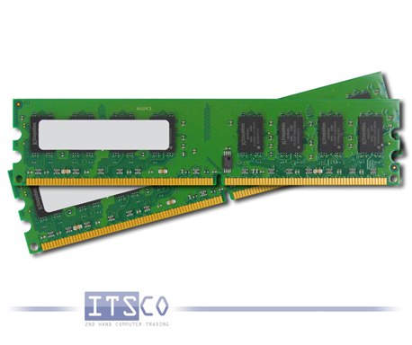SPEICHER KINGSTON 2GB KIT (2x1GB) DDR2 PC3200R