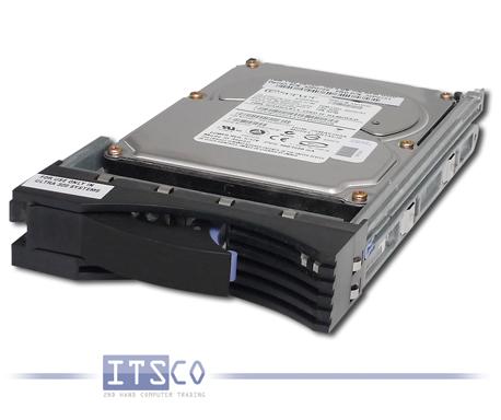 Festplatte IBM Ultra320 SCSI 73.4GB 90P1384 mit Einbaurahmen