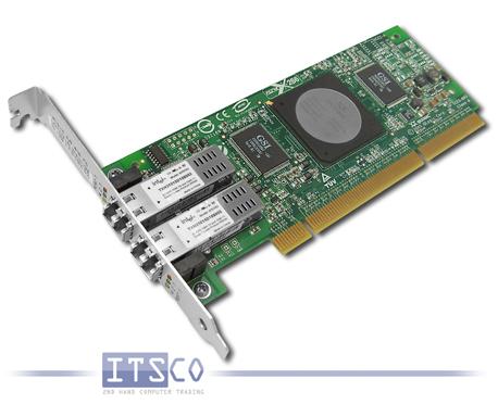 Netzwerkkarte QLOGIC QLA2462 Dual Fibre Channel 39M6019 39M6014 volle Höhe