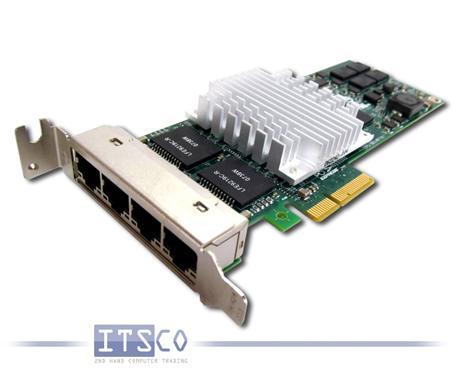 Netzwerkkarte Intel PRO/1000 PT Quad Port 39Y6138 halbe Höhe
