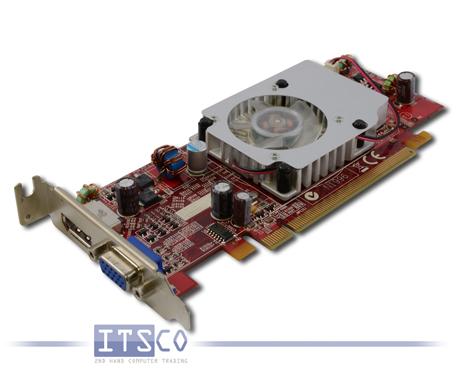 Grafikkarte ATI Radeon HD 3470 PCIe x16 1x VGA 1x DisplayPort halbe Höhe