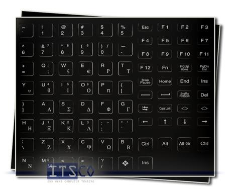 Tastaturaufkleber Griechisch für IBM/Lenovo Notebooks mit schwarzen Tasten