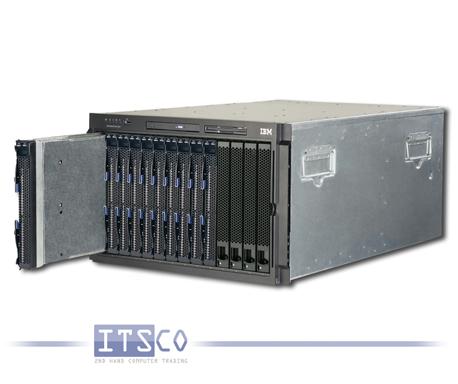IBM Bladecenter Chassis Rack E 8677 inkl. 10x IBM Blade HS21 8853