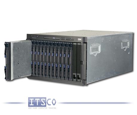 IBM Bladecenter Chassis Rack E 8677 inkl. 13x IBM Blade HC10 7996