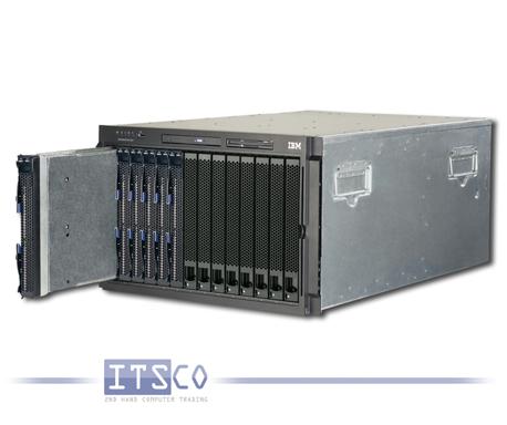 IBM Bladecenter Chassis Rack E 8677 inkl. 6x IBM Blade HS21 8853