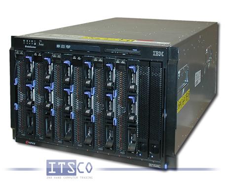 IBM Bladecenter E Chassis inkl. 6x Server IBM Blade HS21