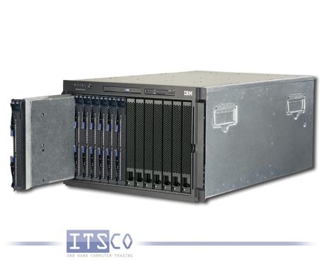 IBM BladeCenter Chassis Rack E 8677 inkl. 7x IBM Blade HS21 7995