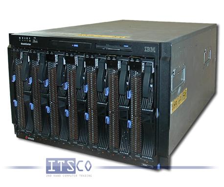IBM Bladecenter E Chassis inkl. 7x Server IBM Blade HS20