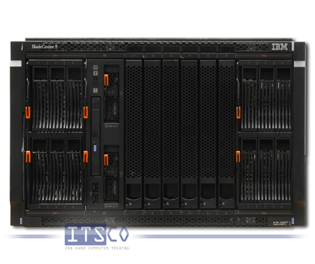 IBM Bladecenter S Chassis 8886 inkl. 6x HS21 Blade 8853