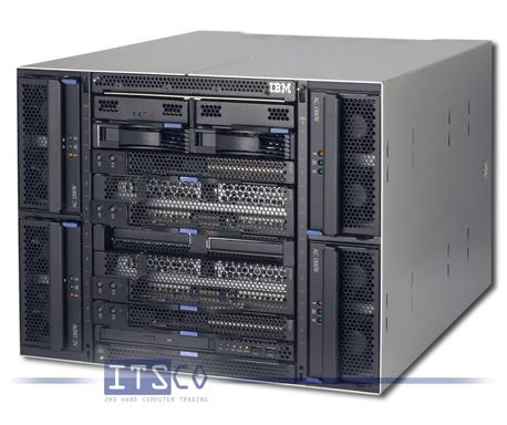 IBM Bladecenter Chassis Rack T 8730 inkl. 8x IBM Blade HS21 8853