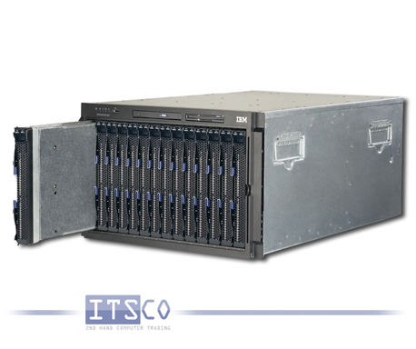 IBM Bladecenter Rack 8677 inkl. 14 x Server IBM Blade HS20 8843