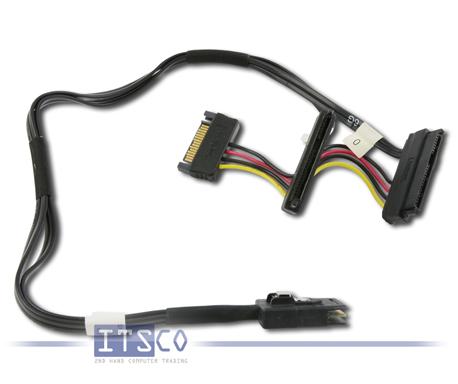 DELL PERC Mini SAS auf Dual SAS und Strom Kabel 45cm Kabellänge