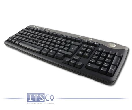 Tastatur Dell SK-8125 USB-Anschluss Schwarz Deutsch 105 Tasten + 8 Multimediatasten