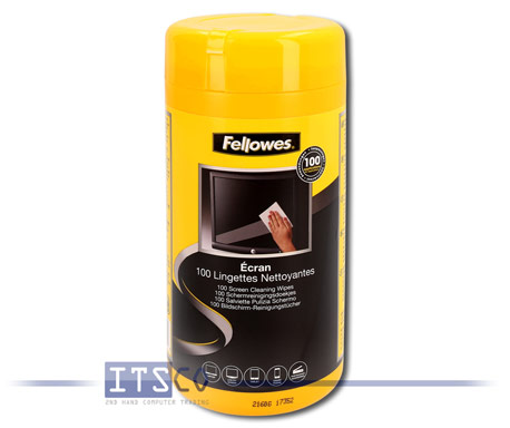Fellowes 100 Bildschirm-Reinigungstücher in Spenderdose