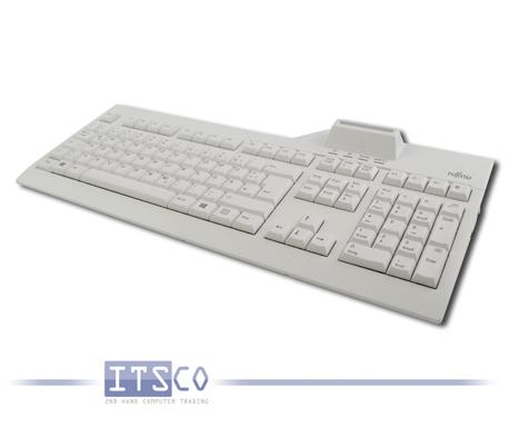 Tastatur Fujitsu KB SCR eSIG Deutsch QWERTZ 105 Tasten USB-Anschluss Smart Card Terminal