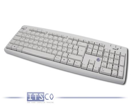 Tastatur Genius K639 hellgrau deutsch 105 Tasten PS/2 Anschluss