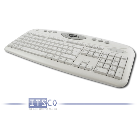 Tastatur Genius K645 Weiss/Grau Deutsch QWERTZ 105 Tasten + 12 Multimediatasten PS/2-Anschluss