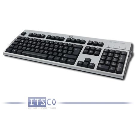 Tastatur HP KUS0133 Silber Schwarz USB Anschluss Smart Card Terminal