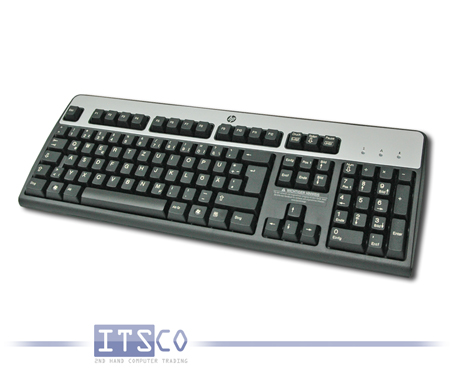 Tastatur HP PS/2 Anschluss Silber/Schwarz