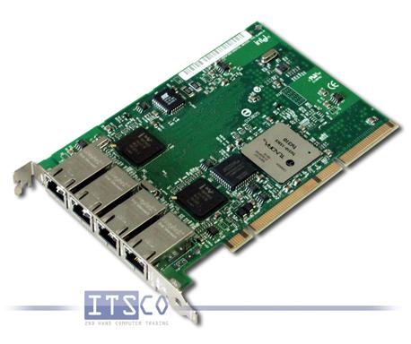 Netzwerkkarte Intel PRO/1000 GT Quadport 1-Gigabit Ethernet PCI-X volle Höhe FRU 73P5209