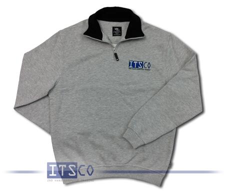 Sweatshirt ITSCO L Grau meliert 100% Baumwolle