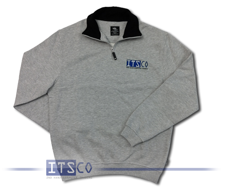 Sweatshirt ITSCO XL Grau meliert 100% Baumwolle