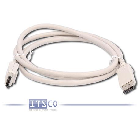 Monitorkabel DisplayPort zu DisplayPort 1,80 Meter hellgrau Neu Bulk