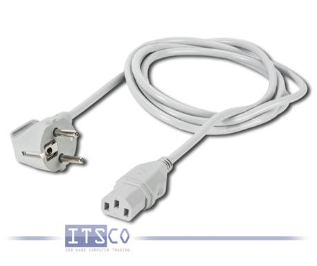 10x Netz- / Kaltgerätekabel 230V Schuko Grau/Weiß