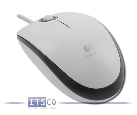 Maus Logitech Optisch 3-Tasten Scrollrad USB Weiss