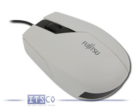 Maus Fujitsu Optisch 3-Tasten Scrollrad USB Weiß