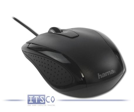 Kompakt-Maus Hama AM-5400 Optisch 3 Tasten Scrollrad USB