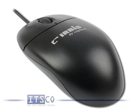 """Maus Logitech Optisch 3 Tasten Scrollrad USB mit """"IRBIS""""-Branding"""