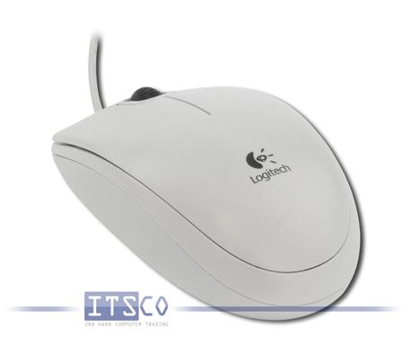 Maus Logitech B110 Optisch 3 Tasten Scrollrad USB weiß