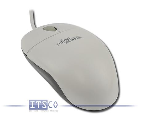 """Maus Logitech Optisch 3 Tasten Scrollrad USB mit """"Fujitsu-Siemens""""-Branding"""