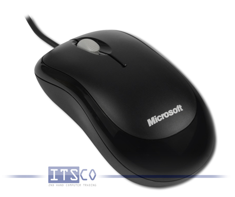 Maus Microsoft Basic Optical Mouse v2.0 3 Tasten Scrollrad USB