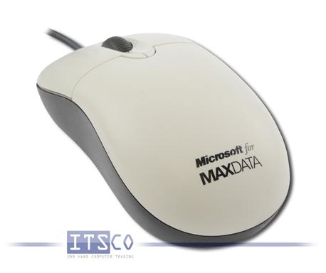 """Maus Microsoft Optisch 3 Tasten Scrollrad USB mit """"Maxdata""""-Branding"""