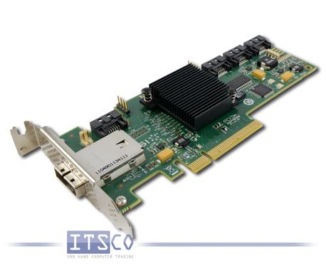 SAS-Controller LSI 8-CH/SAS-SATA 6G PCI-e 68Y7354 halbe Höhe