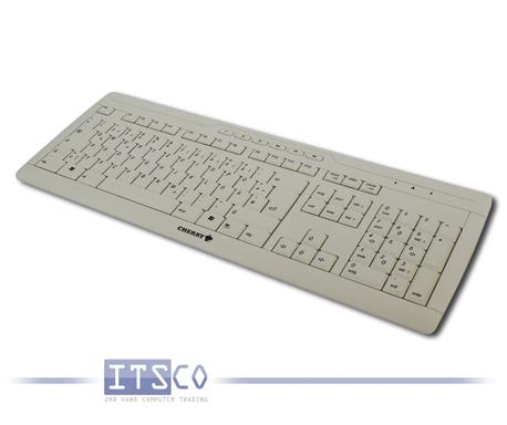 Tastatur Cherry G230 hellgrau 111 Tasten USB-Anschluss