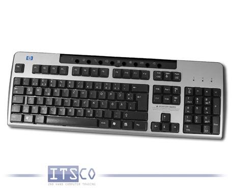 Tastatur HP PS/2 Anschluss Multimedia Hotkeys schwarz / grau