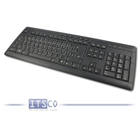 Tastatur Cherry G230 schwarz 111 Tasten USB-Anschluss