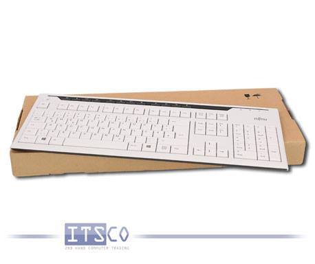 Tastatur Fujitsu KB520 weiß/grau 117 Tasten USB-Anschluss Deutsch QWERTZ NEU & OVP