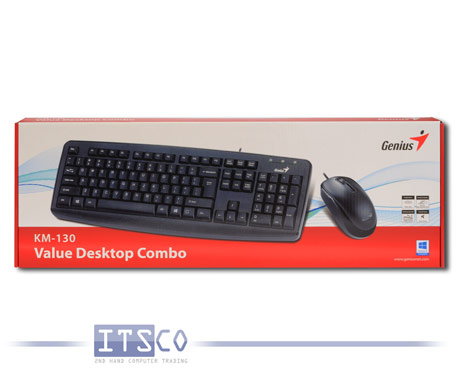 Value Desktop Combo Genius KM-130 Maus und Tastatur Set USB Deutsch QWERTZ NEU & OVP