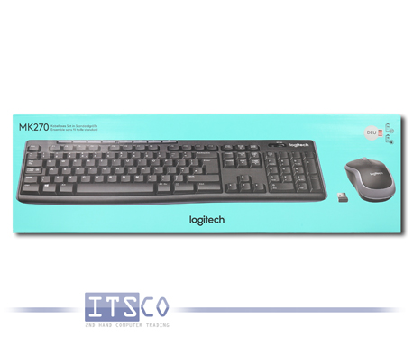Wireless Combo Logitech MK270 Maus und Tastatur Set Kabellos Deutsch QWERTZ NEU & OVP