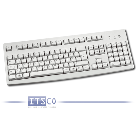 Tastatur Fujitsu Siemens KBPC SX D hellgrau 105 Tasten PS/2-Anschluss