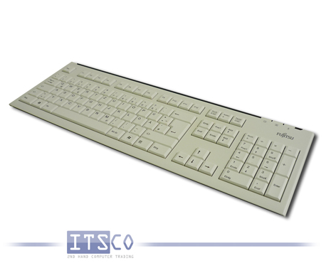 Tastatur Fujitsu KB400 D hellgrau 105 Tasten USB-Anschluss
