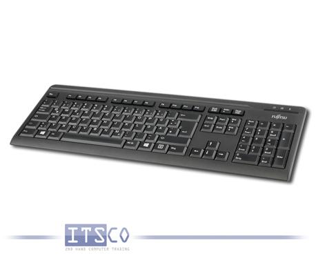 Tastatur Fujitsu KB410 C schwarz USB-Anschluss