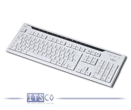 Tastatur Fujitsu KB520 weiß/grau 117 Tasten USB-Anschluss
